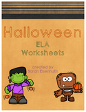 Halloween ELA Worksheets