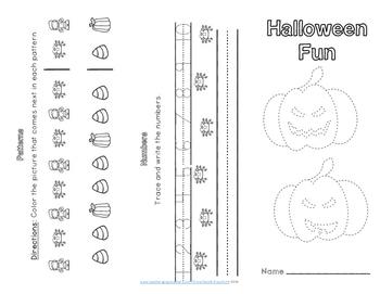 Halloween ELA and Math Trifold