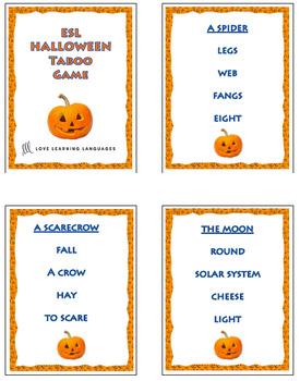 Halloween - ESL - ELL Taboo Speaking Game