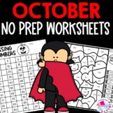 Halloween Early Finisher Activities | October Morning Work