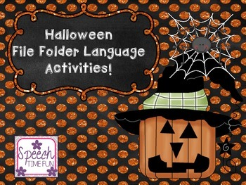 Halloween Early Language File Folder Activities