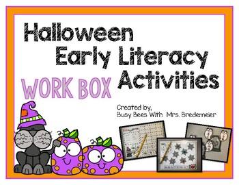 Halloween Early Literacy Work Box Activities