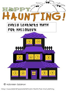 Halloween Early learners math Worksheets