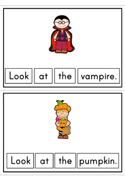 Halloween Easy Reader Patterned Sentences For Beginner Readers