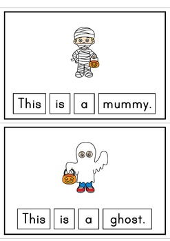 Halloween Easy Reader This is a Mummy Patterned Sentences for Beginner Readers