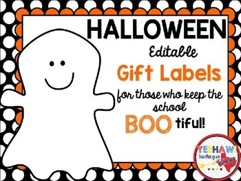 Halloween Gift Tags Worksheets Teaching Resources Tpt
