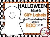 Halloween Editable Gift Tags