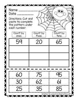 Halloween Edition 1: No Prep! Math Center Printables