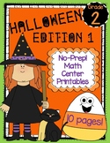 Halloween Edition 1: No Prep! Math Center Printables