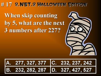 Halloween Edition 2nd Grade Math 2 NBT.2 Place Value, Skip Count by 5, 10, 100