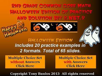 Halloween Edition 2nd Grade Math 2 NBT.2 Place Value, Skip