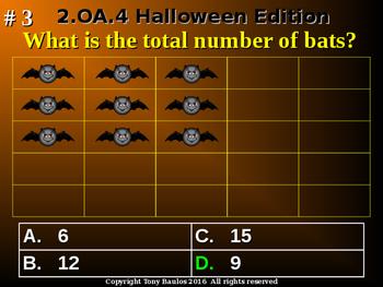 Halloween Edition 2nd Grade Math 2.OA.4 Operations and Algebraic Thinking