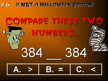 Halloween Edition 2nd Grade Math 2.NBT.4 Compare Two Three-Digit Numbers