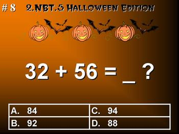 Halloween Edition 2nd Grade Math 2.NBT.5 Fluently Add & Subtract Within 100