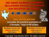 Halloween Edition 3rd Grade Math 3.NBT.1 Round To Nearest 10 or 100