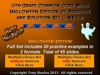 Halloween Edition 5th Grade Math 5.NBT.2 Multiply & Divide By A Power of 10