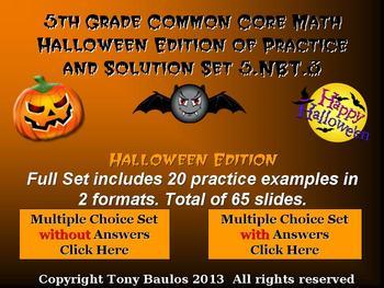 Halloween Edition 5th Grade Math 5.NBT.3 Compare Decimals To Thousandths