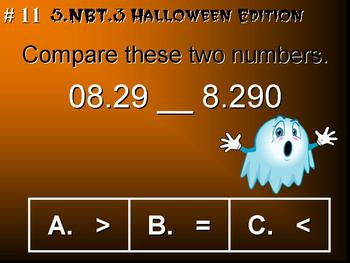 Halloween Edition 5th Grade Math 5.NBT.3 Compare Decimals To Thousandths