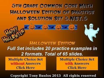 Halloween Edition 5th Grade Math 5.NBT.5 Multiply Multi-di