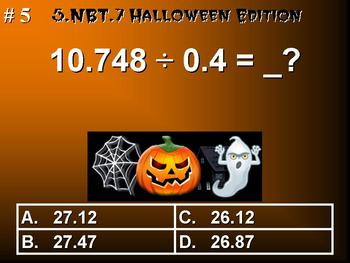 Halloween Edition 5th Grade Math 5.NBT.7 Add, Subtract, Multiply Divide Decimals