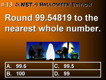 Halloween Edition Fifth Grade Math 5.NBT.4 Round Decimals To Any Place