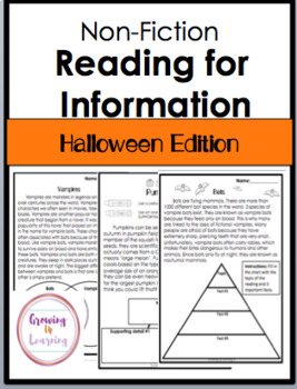 Halloween Edition: Reading for Information (Non-Fiction)