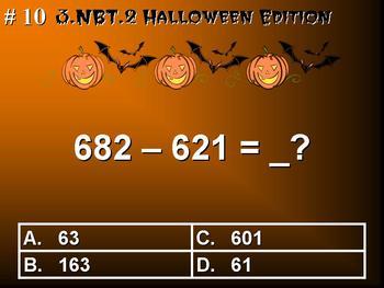 Halloween Edition Third Grade Math 3.NBT.2 Add & Subtract Within 1,000