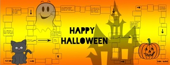 Halloween Educational Learning Board Game Set for entire class