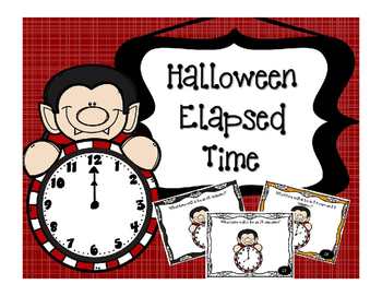 Halloween Math Elapsed Time Task Card for Math Centers