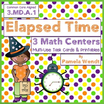 Halloween Elapsed Time Multi-Use Task Cards and Printables
