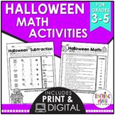 Halloween Elementary Math Activities