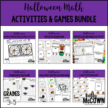 Halloween Elementary Math Activities & Games BUNDLE