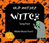 Halloween Elementary Music Pack - Old Mother Witch Song, Game, Recordings, More!