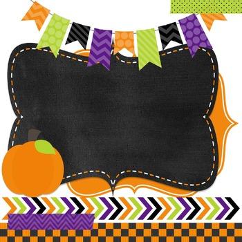 Digital Paper and Frame Mini Set Halloween