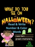 Halloween Emergent & Beginning Guided Reading Book & Writing Activity