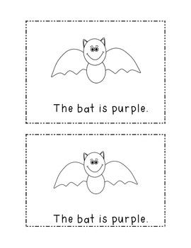 Halloween Emergent Book color words