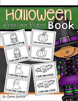 Halloween Emergent Reader Book Sight Words I, Can, See, A