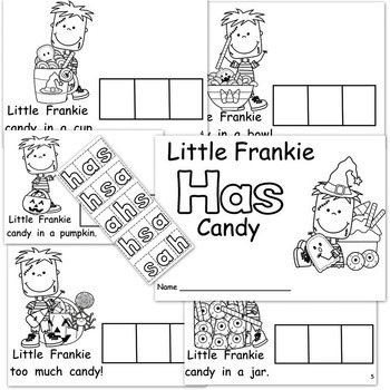 Halloween Candy   Emergent Reader   Build-A-Word Book  Sight Word HAS