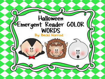 Halloween Emergent Reader: Color Words