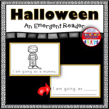 Halloween Emergent Reader Coloring Book