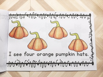 Halloween Emergent Reader Counting 1 to 10 and Colors