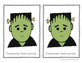 Halloween Emergent Reader: Frankenstein Emotions