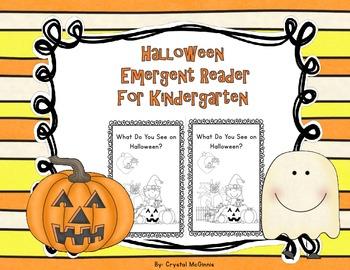 Halloween Emergent Reader Freebie