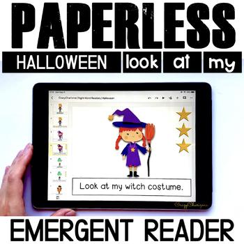 Halloween Emergent Reader   Google Classroom Activities