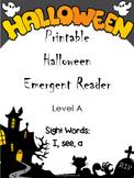 Halloween Emergent Reader - Level A Printable Booklet