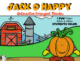 Halloween Emergent Reader {Poem: Jack O Happy} Kindergarten