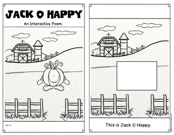 Halloween Emergent Reader {Poem: Jack O Happy} Kindergarten
