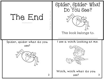 Halloween Emergent Readers Mini-Books Set of 5!