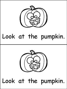 Halloween Emergent Reader for Kindergarten: Look at Halloween- Level A
