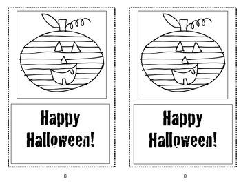 Halloween Emergent Reader for Kindergarten or First Grade